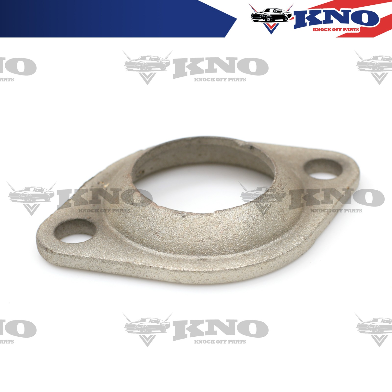 """US 2.3/"""" 3/"""" EXHAUST FLANGE COLLECTOR GASKET METAL CLAD 2 BOLT HOLES FOR EURO CAR"""
