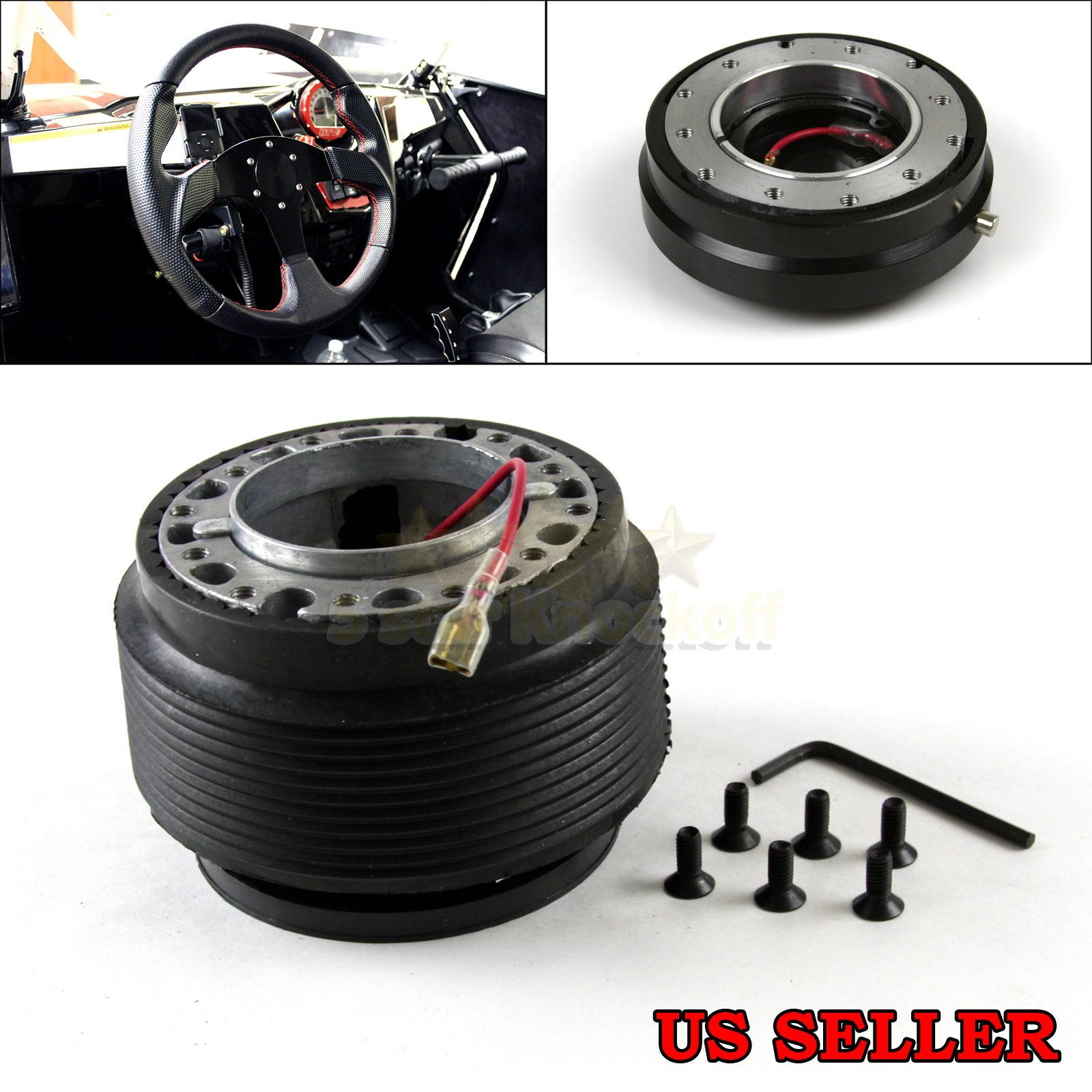 For 95 98 nissan 240sx s13 s14 6 bolt jdm steering wheel hub image is loading for 95 98 nissan 240sx s13 s14 6 sciox Choice Image