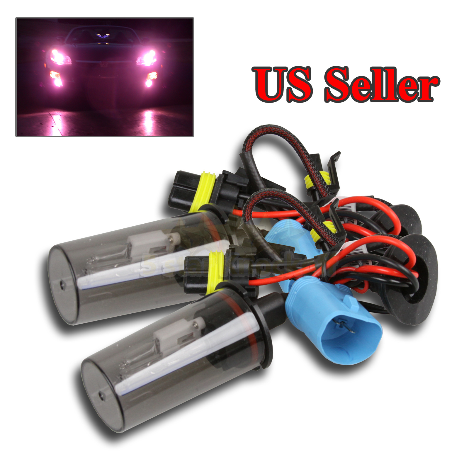 Details About 2 X 9007 12000K 55W PURPLE HID CONVERSION BULBS ONLY FOR HEADLIGHT UPGRADE DIY