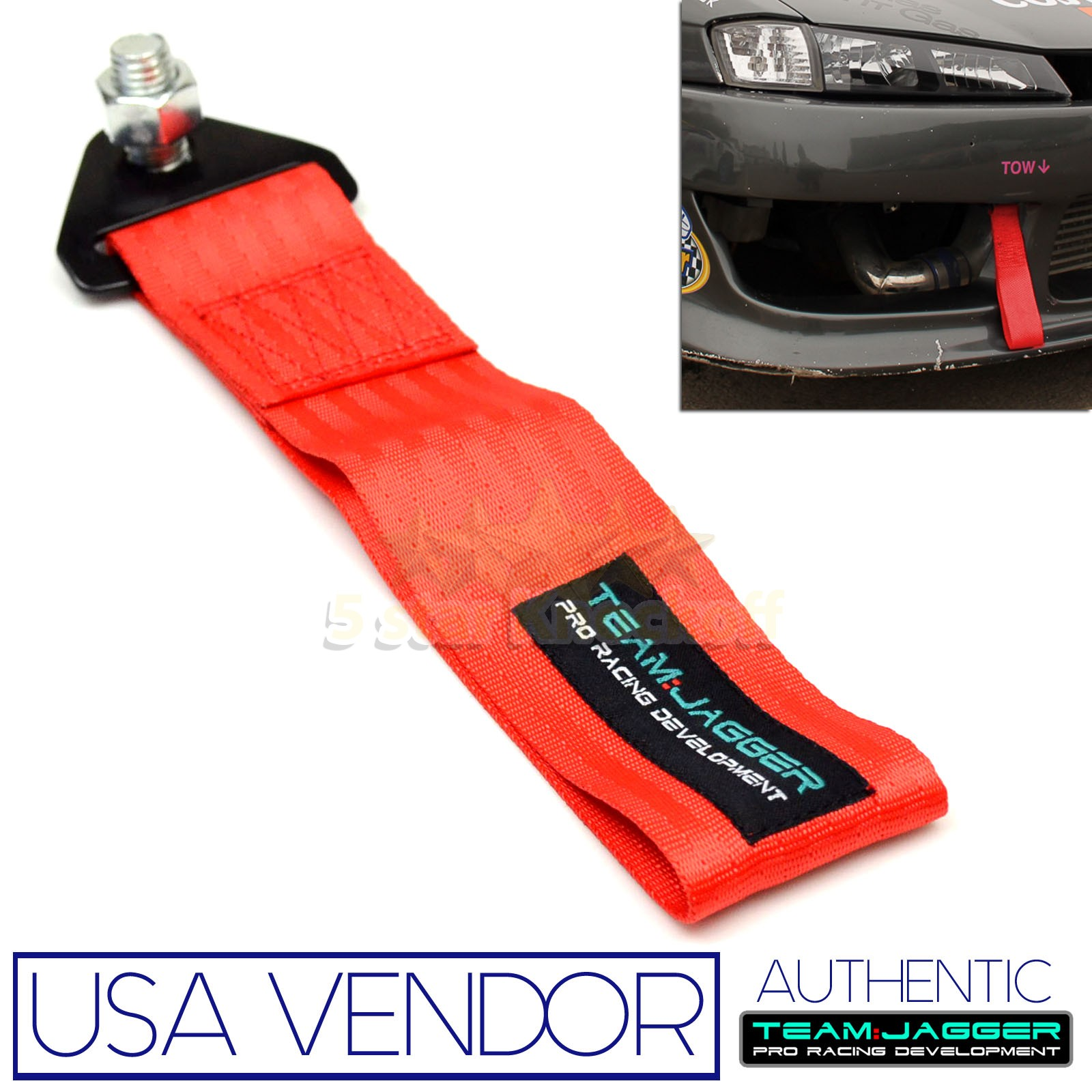 FOR CADDY AND MAZDA CARS! JDM RACING FRONT TOW PULLING STRAP BUMPER ...